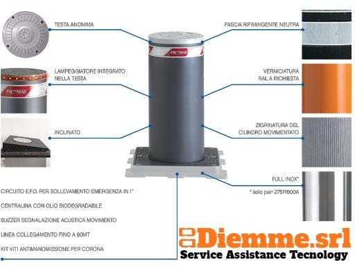 Pilomat installazione manutenzione roma costo prezzi pilomat dissuasori automatici torrette